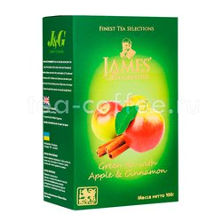 Чай James Grandfather Greentea With Apple&Cinnamon 100 гр