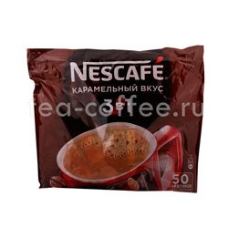 Кофе Nescafe растворимый 3 в 1 Карамель 50 шт по 20 гр
