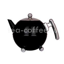 Чайник Duet Saturn заварочный с двойными стенками 1,2 л (черный 333)