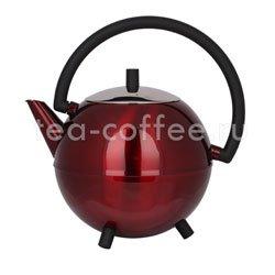 Чайник Duet Saturn заварочный с двойными стенками 1,2 л (красный 111)