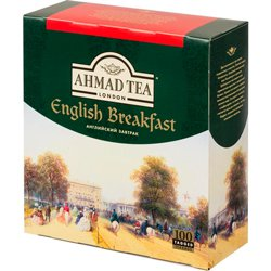Чай Ahmad Tea English Breakfast черный (100 пакетиков)