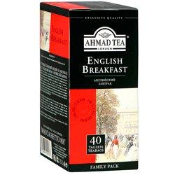 Чай Ahmad Tea English Breakfast черный (40 пакетиков)