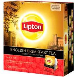 Чай Lipton Discovery English Breakfast черный (100 пакетиков)