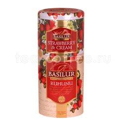 Чай Basilur 2 в 1 Рухуну и клубника с кремом 125 гр