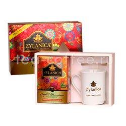 Подарочный набор Zylanica Чай черный Opa 100 гр и фарфоровая кружка