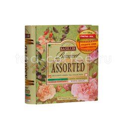 Чай Basilur Чайная книга Букет Ассорти 32 пакетика