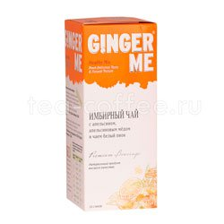 Имбирный чай с апельсином, апельсиновым медом и чаем белый пион (10 стиков)
