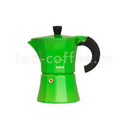 Гейзерная кофеварка Morosina Зеленая 3 порций