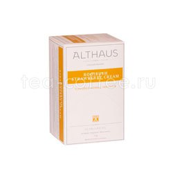 Чайный напиток Althaus Rooibos Strawberry Cream травяной 20 пак