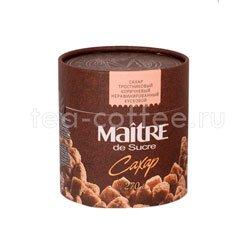Сахар Maitre тростниковый коричневый нерафинированный кусковой 270 гр