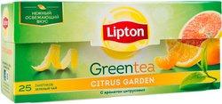 Чай Lipton Citrus Garden зеленый (25 пакетиков)