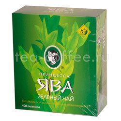 Чай Принцесса Ява зеленый в пакетиках 100 шт