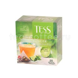 Чай Tess зеленый Ginger Mojito (Лимонная кожура и мята) пирамидки 20 пак.