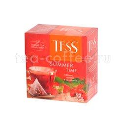 Чай Tess Summer Time (Гибискус, шиповник и клубника) пирамидки 20 пак.