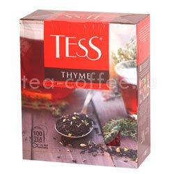 Чай Tess черный Thyme (Чабрец и цедра лимона) 100 пак.