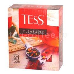 Чай Tess черный Pleasure (Шиповник и яблоко) 100 пак.