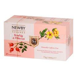 Чай Newby Шиповник и гибискус 25 шт