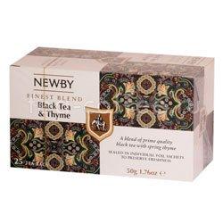 Чай Newby Черный чай с чабрецом 25 шт